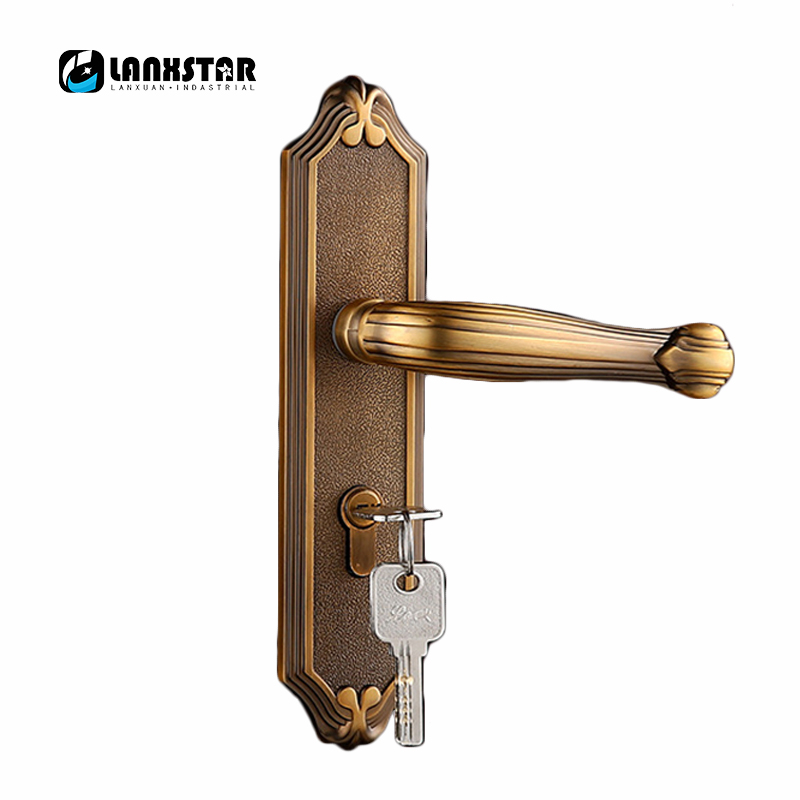 Modern Trend Handle Door Lock Manufacturers Design Luxury Zinc Alloy Handles Locker Reliable Quality Bronze Color Locks bronze glass door handle modern european luxury stainless steel door handle chinese antique wooden door handles