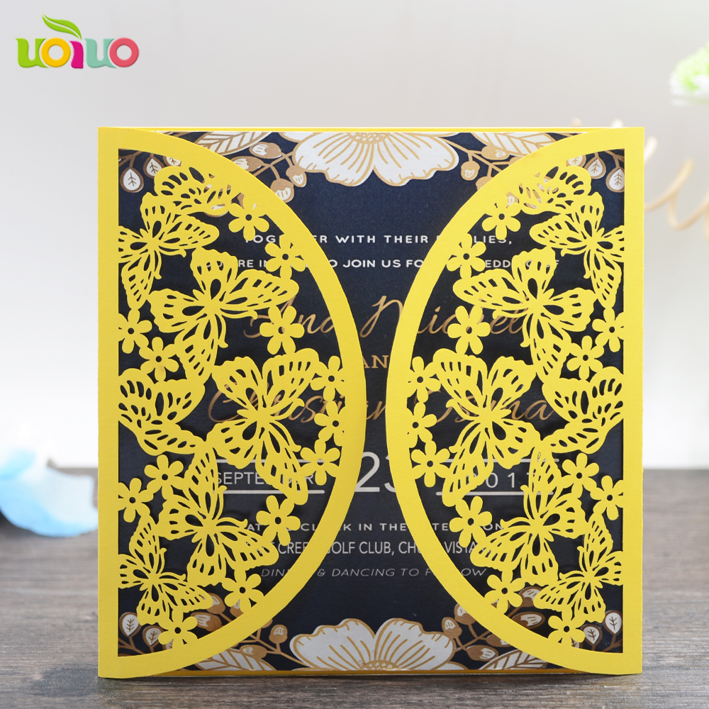 Us 54 5 With Envelop 2017 Good Quality Lace Butterfly Invitation Cards Tamil Puberty Ceremony Invitation Cards Various Colors To Choose In Cards