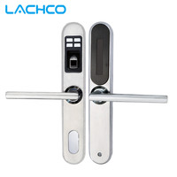 Fingerprint Door Lock Mechanical Key Stainless Steel Smart Lock Black And Sliver L S SL16 087BS