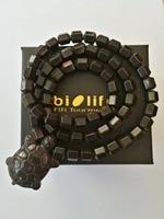 5000PCS Korea Original black hexagon Ceramic Tourmaline FIR Magnet Anion bracelet beads To India