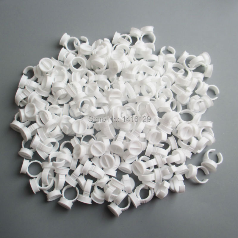 500pcs L Size Separated Disposable Permanent Makeup Ring Tattoo Ink Eyebrow Lip Tattoo Pigments Holder Rings Container/Cup