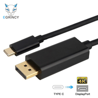 USB C Type C To DP Cable 4K USB 3 1 Thunderbolt 3 Male To Male