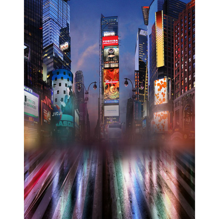 Customize vinyl cloth print New York city night photo studio backgrounds for photocall portrait photography backdrops S-2233