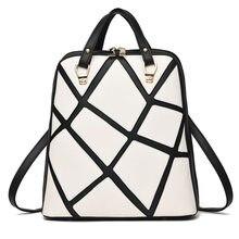 Европейские и американские Стиль Дамские туфли из PU искусственной кожи рюкзак многофункциональная сумка модные сетки тенденция девушка рюкзак высокое качество