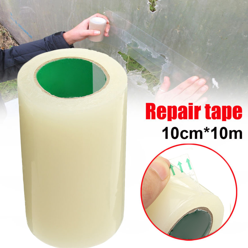 10cm*10M Greenhouse Film Repair Tape Patch Extra Strong Clear UV Greenhouse Polythene Permanent Repair Tape Clear Color10cm*10M Greenhouse Film Repair Tape Patch Extra Strong Clear UV Greenhouse Polythene Permanent Repair Tape Clear Color