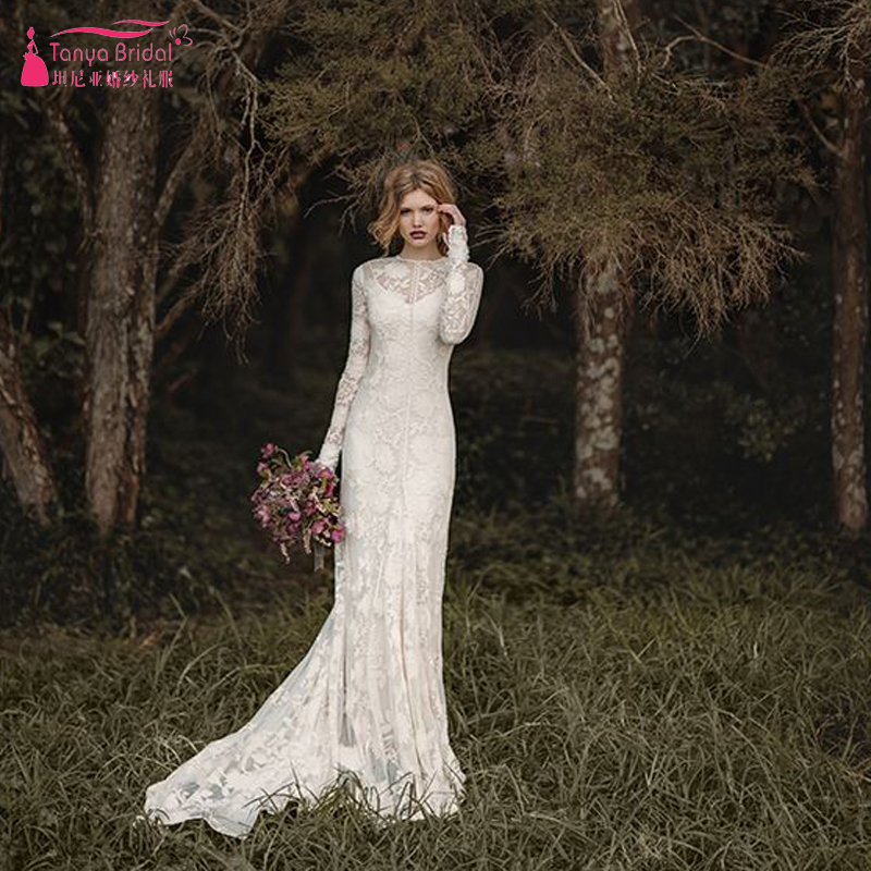 Popular Long Sleeve Winter Wedding Dresses Buy Cheap Long