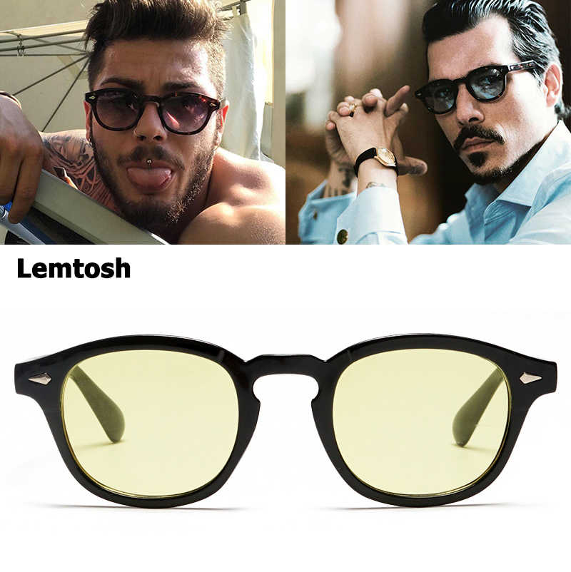 3e375de581a JackJad Fashion Johnny Depp Lemtosh Style Tint Ocean Lens Sunglasses Vintage  Classic Round Brand Design Sun