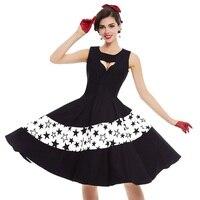 Sisjuly Vintage Dress Women Summer Black Patchwork Geometric Star Party Dress Summer Sexy Beauty Elegant Vintage