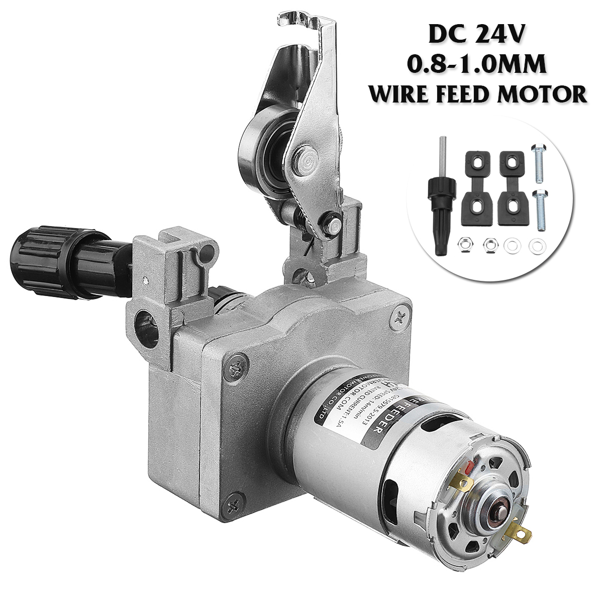 DC24V 0 8 1 0mm Welding Wire Feed Motor Assembly Feeder Set Welding Machine No Connector