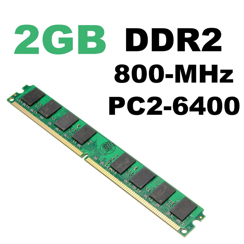 New Arrival 2GB DDR2 Memory RAM 800MHZ PC2-6400 in Memory Compatible PC Computer Desktop for AMD CPU GPU APU ...