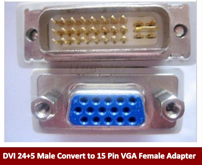 ATI DVI to vga connector DVI-I(A/D) to VGA male to female 24+5 pin to 15 Pin Adapter Convert Hot New Arrival xmas dvi d male to vga female adapter converter connector for lcd hdtv