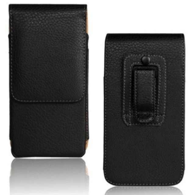 Belt Clip PU Leather Waist Holder Flip Cover Pouch Case for Leagoo Z1/Alfa 8/Elite 8/Alfa 4/Lead 4 4 Inch