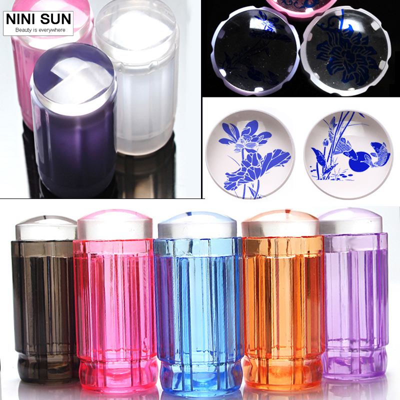 2016 New 2.8CM Transparent Stamp Nail Art Clear Jelly Stamper Scraper Tool Set Manicure Polish Stamp Image Tool Kit цены