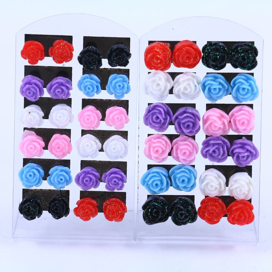 wholesale jewellery boxes jewelry packaging velvet shell creative earrings stud colorful