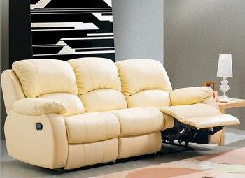 high quality  European living room leather sofa 9066