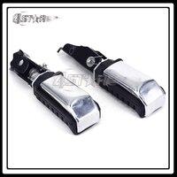 Motorcycle Black And Silver Rear Passenger Foot Pegs Footpegs Footrest For CA250 CMX250 Rebel CMX 250
