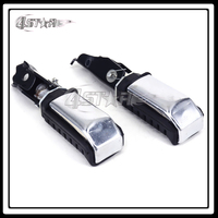Motorcycle Black And Silver Rear Passenger Foot Pegs Footpegs Footrest For CA250 CMX250 Rebel CMX 250
