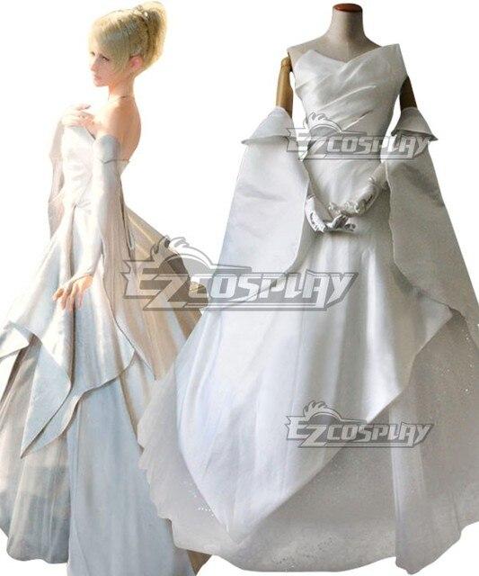 Final Fantasy XV Lunafreya Nox Fleuret Wedding Dress Cosplay Costume ...