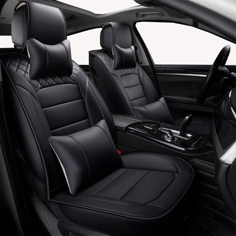 (Avant + arrière) housses de siège de voiture universelles en cuir pour Chevrolet aveo Cruze lacetti Captiva TRAX LOVA SAIL accessoires de voiture coussin