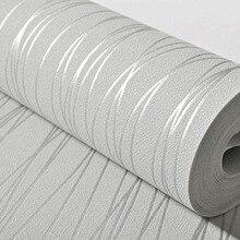 Nowoczesny pionowy pasek tapety 3D tłoczone uciekają włókniny tapety do salonu sypialnia tło ściana Home Decor 3D