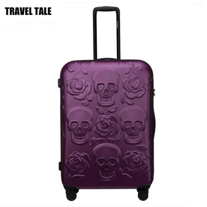 Travel Tale 20 Quot 24 Quot 28 Inch Spinner Skull Travel Suitcase