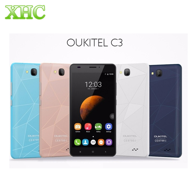 OUKITEL C3 8GB 3G WCDMA Phone 3D Diamond Cover 5.0''Android 6.0 MT6580 Quad Core 1.3GHz RAM 1GB  1280*720 Smartphone 5 Colors