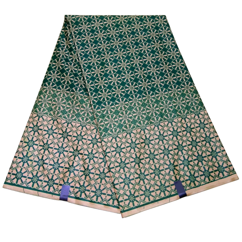 2019 Wax Printed Ankara Fabric 100% Cotton Wax Fabric Batik Wax High Quality 6 Yards African Fabric For Party Dress