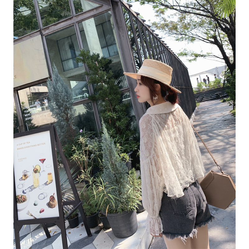 Top 2019 Shirt Mishow Lolita Neck Female Women Lace Beach Casual Blouse Sweet Mx19a4760 O n4xaap