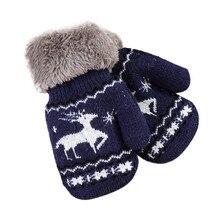 TELOTUNY плюшевые и бархатные теплые перчатки для осени и зимы полный палец новорожденных детей трикотажные детские варежки ZS12