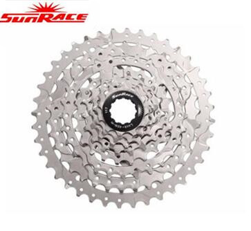 SunRace Bicycle Freewheel 8S 8 Speed 11-40T MTB Freewheel Flywheel Mountain Bicycle Cycling Cassette Bike Parts black  silver  mtb mountain bike bicycle 10s cassette freewheel 8 speeds flywheel 11 13 15 18 21 24 28 32 36t teeth crankset