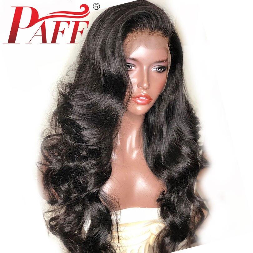 PAFF 180% плотность объемная волна Шелковый топ человеческих волос парики с отбеленные узлы предварительно сорвал 4x4 шелк база кружева Фронтал...