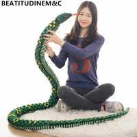 1pc 280cm Simulation Snake Plush toys Giant Snake animals python Soft Stuffed Dolls Bithday Gifts Children's toys Home Decor