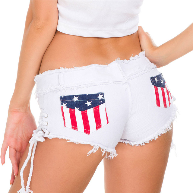 fashion Hair edge Pure color pocket Lateral lace UltraShort Low-waisted befree sexy short jeans woman denim shorts women jeans