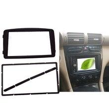 Doppio Din Car Radio Fascia fit Mercedes BENZ CLASSE C W203 2002-2004 Lettore DVD Kit Pannello Audio Stereo dash Kit Telaio Pannello