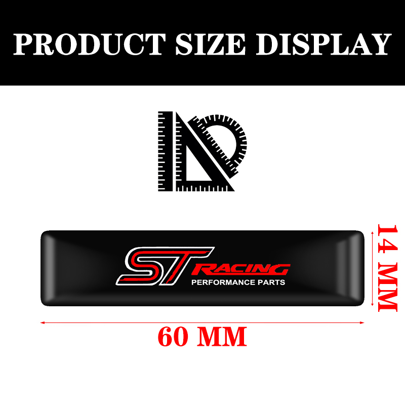 Image 2 - 10pcs Car styling ST Logo Protective bar Stickers Styling Car Emblem Badge Auto Exterior Decal Sticker for Ford Focus ST Mondeo-in Car Stickers from Automobiles & Motorcycles