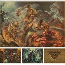 Game of Diablo 3 retro Poster home decor vintage paingtings wall paper art decor