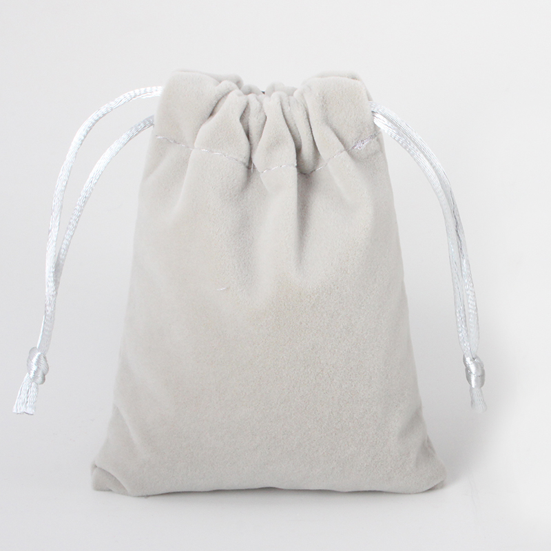 5pcs/lot 10*14cm 6 Colors Color Cosmetic Velvet Pouch Logo Printed Drawstring Satin Gift Bags Jewelry Packaging Bags