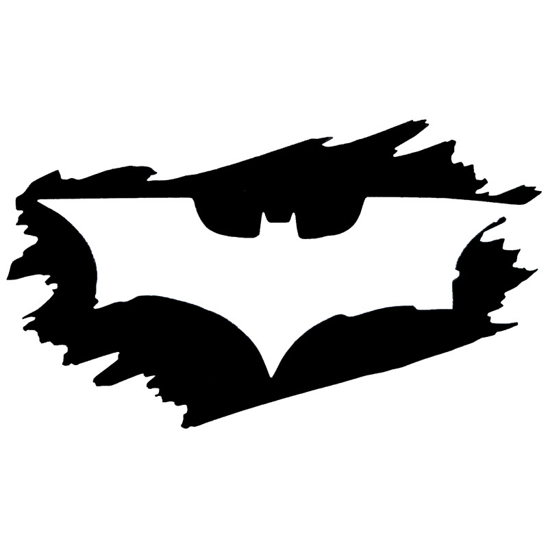 137 5cm batman logo creative graffiti popular car sticker and decal vinyl car styling black silver s1 2163 in car stickers from automobiles motorcycles