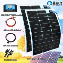 2 x 60w ETFE Flexible Solar Panel Module with 12v/24v Controller for Car RV Boat  Marine Home 12V Solar Power Charger battery цена в Москве и Питере