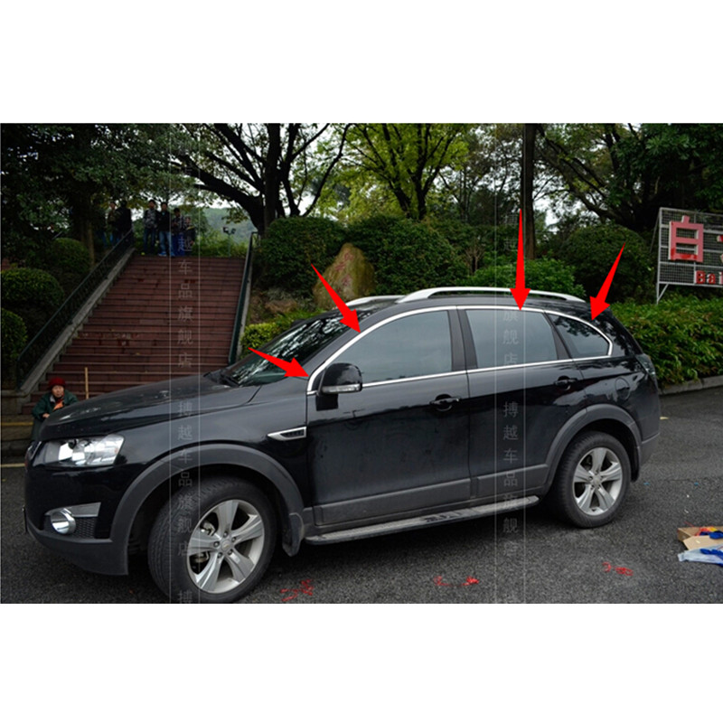 High-quality stainless steel Strips Car Window Trim Decoration Accessories Car styling  6pcs   For 2011-2014 Chevrolet CAPTIVA high quality stainless steel strips car window trim decoration accessories car styling 12pcs for 2011 2013 toyota highlande