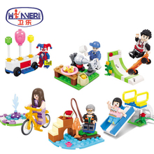 Friends Series City Park Cafe Playground Joker Legoes For Children Gifts Action Figure Building Block Bricks Model Toys enligthen 1120 city series happy journey truck camping car model building blocks action figure bricks toys for children gifts