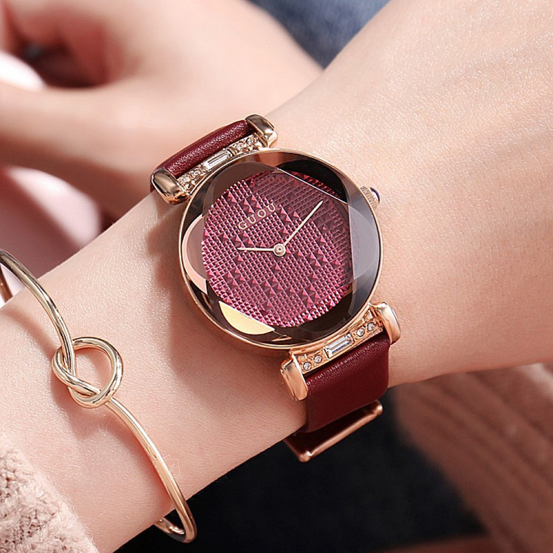 0e05e3547d2 Top Luxury Diamond Watches Lady Fashion Wristwatches Genuine Leather Dress  Watch Women Rhinestone Quartz Watches Fashion Hours