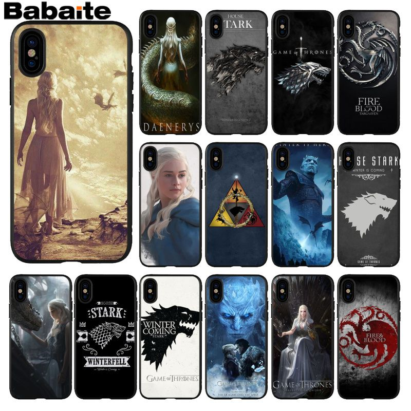 Babaite Game Thrones Wolf TPU Soft Silicone Phone Case Cover for iPhone 5 5Sx 6 7 7plus 8 8Plus X XS MAX XR case