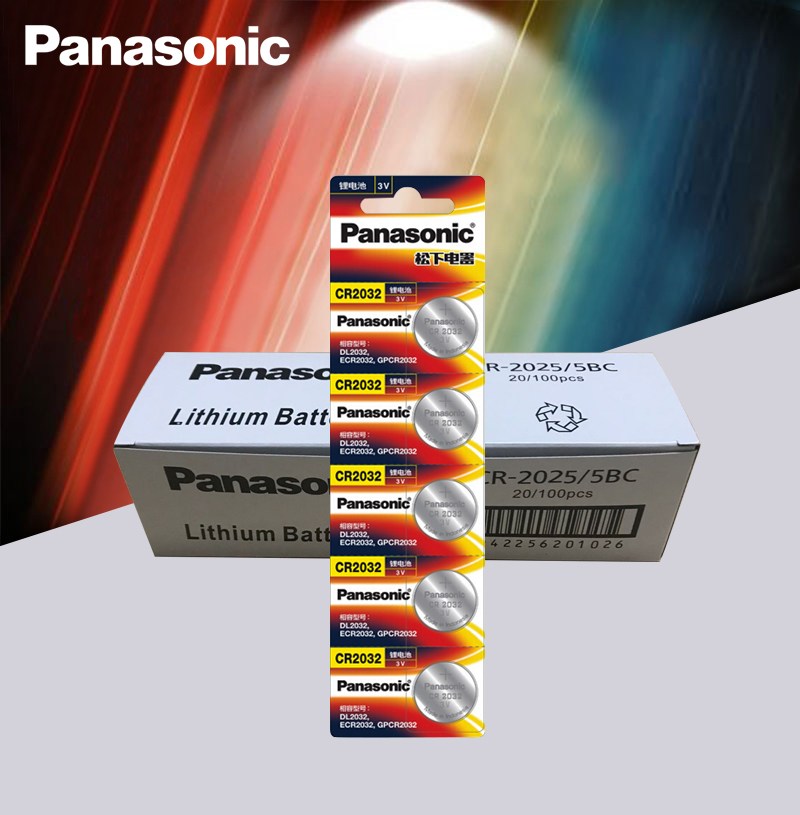 <font><b>Panasonic</b></font> Original 100pcs/lot cr <font><b>2032</b></font> Button Cell Batteries 3V Coin Lithium Battery For Watch Remote Control Calculator cr2032 image