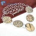 hot new arrive women unique classic natural Dalmatine jasper chain necklaces N0508