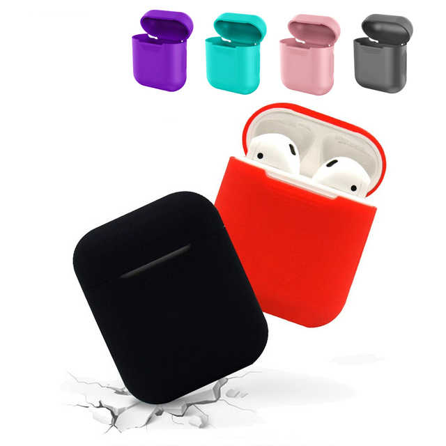 Soft Silicone Cases For Apple Air pods Shockproof Cover Smart Bluetooth Wireless Earphones Ultra Thin For AirPods Protector Case