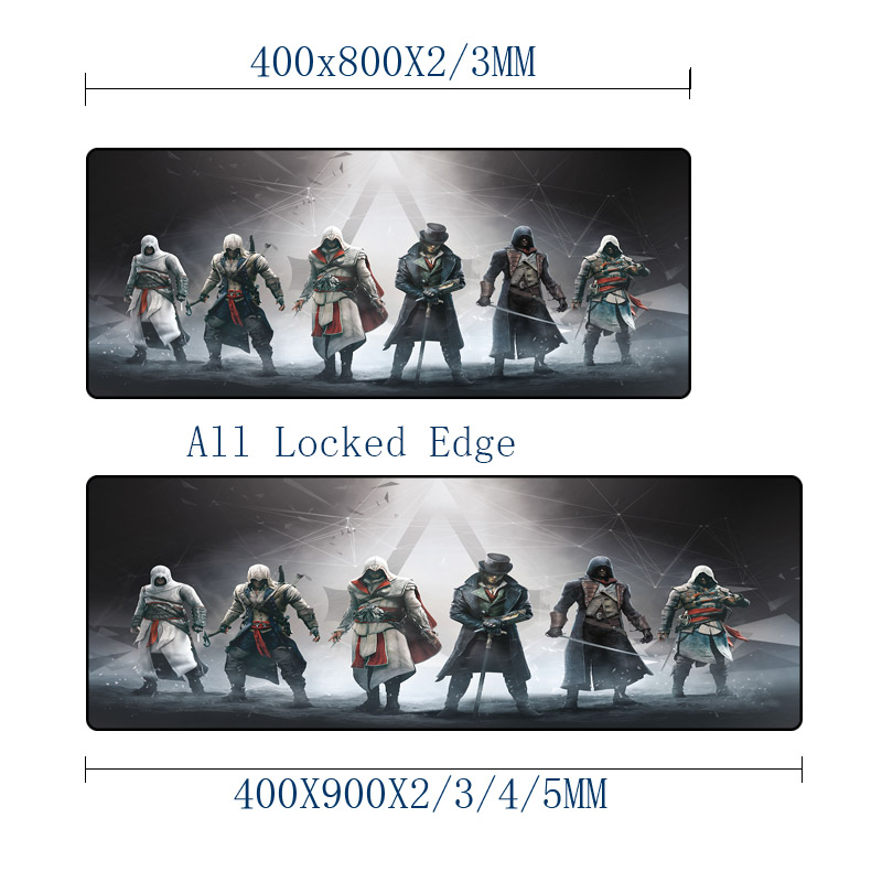 Mairuige The Hot Game Assassins Creed mousepad for Video Game Player Lovers Gaming Mouse Mat Pc Computer Keyboard Mouse Pad