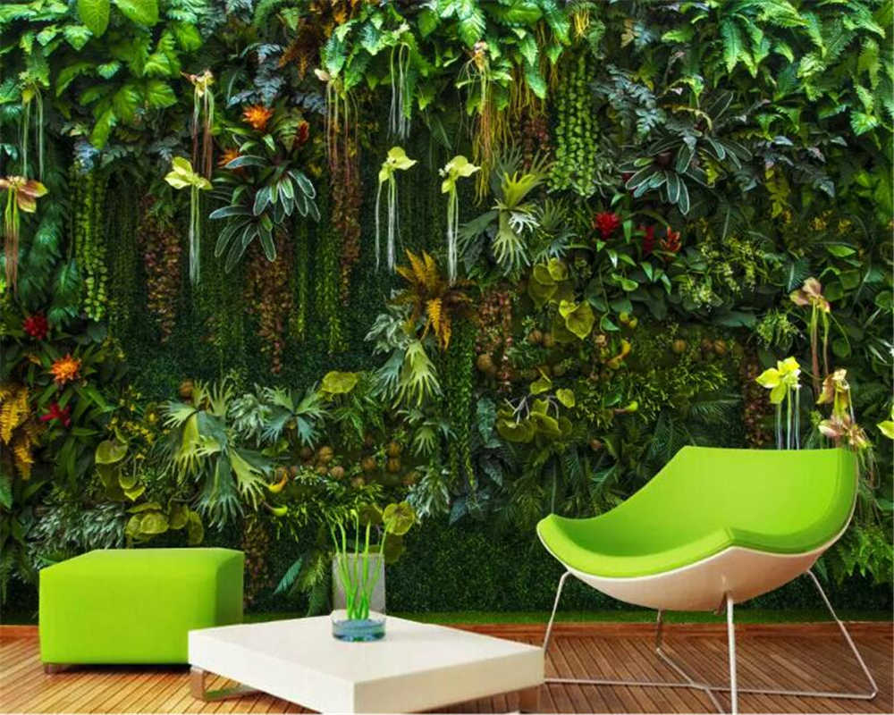 beibehang Custom Photo Wallpaper Mural Tropical rainforest flower plant green leaf Wall Decorative Painting wallpaper home decor