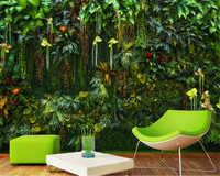 beibehang Custom Photo Wallpaper Mural Tropical rainforest flower plant green leaf Wall Decorative Painting wallpaper home decor