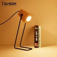 IDERAN Iron Frame Table Lamp Simple Brand Antique Living Room Children S Study Retro Desk Lamp